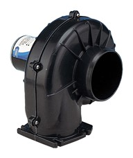 "Continuous duty 100mm (4"") blower, flangemount 24 volt dc"
